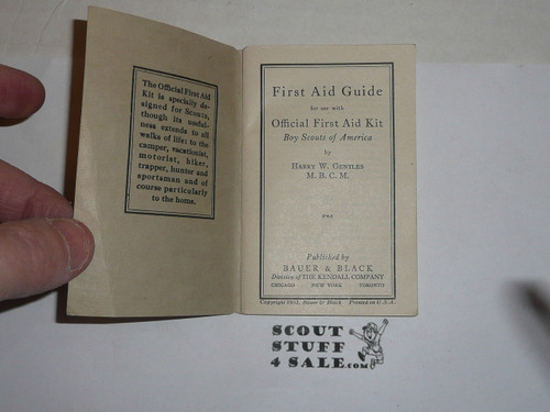 official first aid guide book, 1932