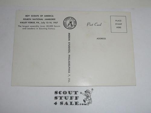 1957 National Jamboree Post Card