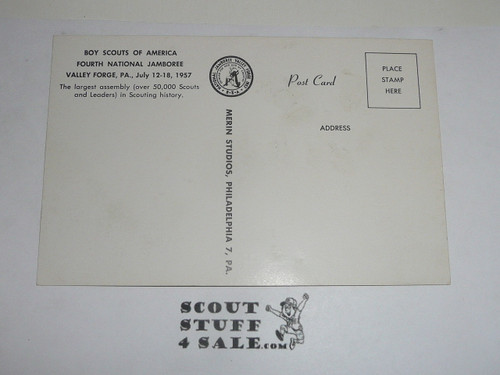 1957 National Jamboree Post Card