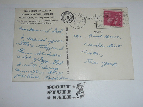 1957 National Jamboree Post Card of the Trading Post