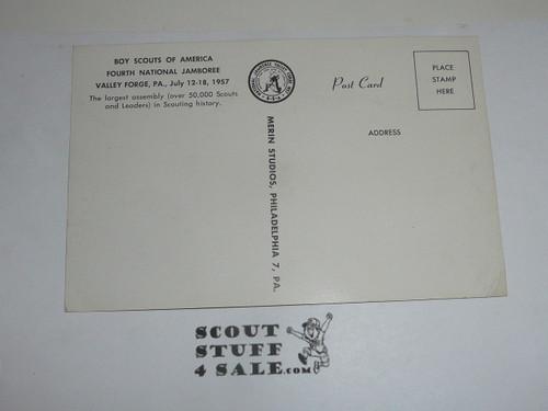 1957 National Jamboree Post Card of Cradle of Liberty Gateway