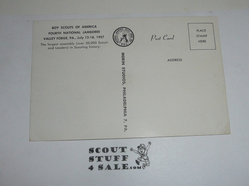 1957 National Jamboree Post Card of Cradle of Liberty Gateway