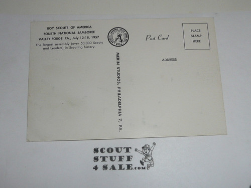 1957 National Jamboree Post Card of Cradle of Scouts at a Cannon