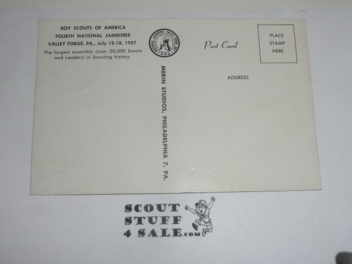 1957 National Jamboree Post Card of the Trading Post, not sepia