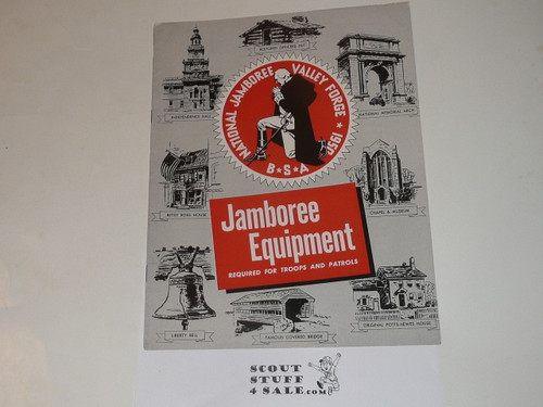1950 National Jamboree Troop and Patrol Equipment Catalog and official Order Forms