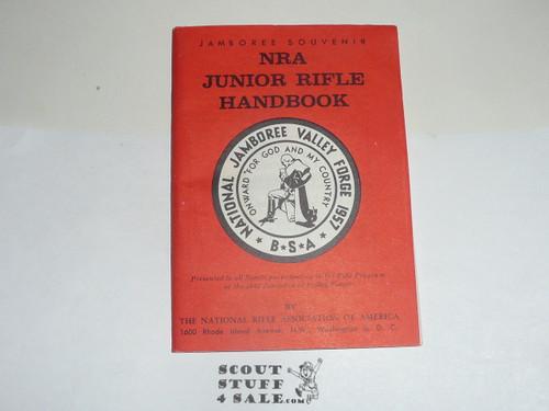 1957 National Jamboree NRA Junior Rifle Handbook (53 pages) plus paperwork from NRA display at Jamboree
