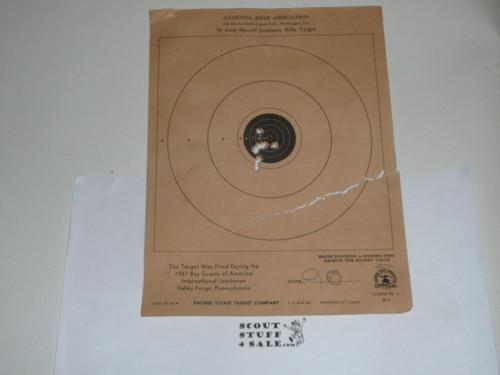 1957 National Jamboree NRA Official Rifle shooting target from Jamboree