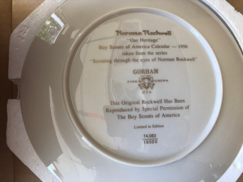 "Gorham Norman Rockwell ""Our Heritage"" Decorative China Plate, New in Box"