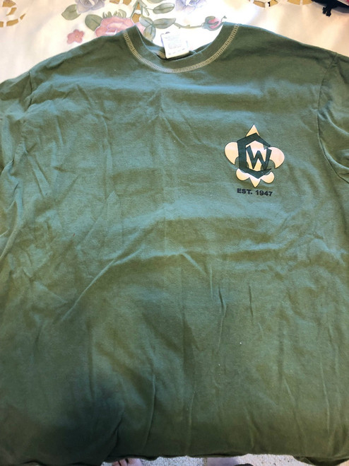 2007 Camp Whitsett Tee Shirt, Mens Medium, Lite Use