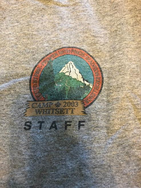 2003 Camp Whitsett STAFF Tee Shirt, Mens Medium, Lite Use
