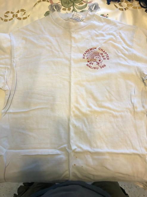 Order of the Arrow Lodge #566 Malibu 1980's Kiteanemuk Chapter Tee Shirt, Mens Large, Like new