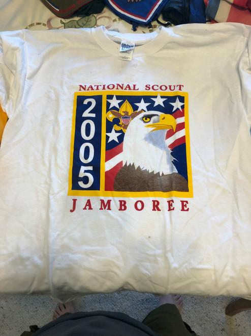 2005 National Jamboree Official Tee Shirt, Mens Large, New