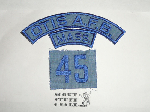 Otis Air Force Base Air Scout Blue and Red/White Strips/State - HISTORICAL REPRO