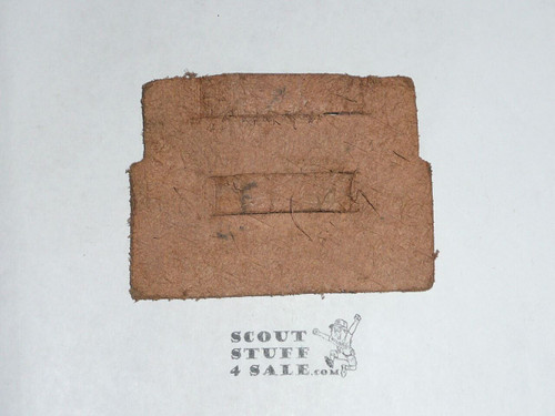 1950 National Jamboree Region Four (4) Buckskin Band Leather Neckerchief Slide