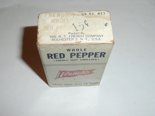 Vintage Spice French's Whole Red Pepper Spice tin (cardboard)