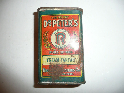 Vintage Spice Dr. Peter's Cream Tartar Spice tin