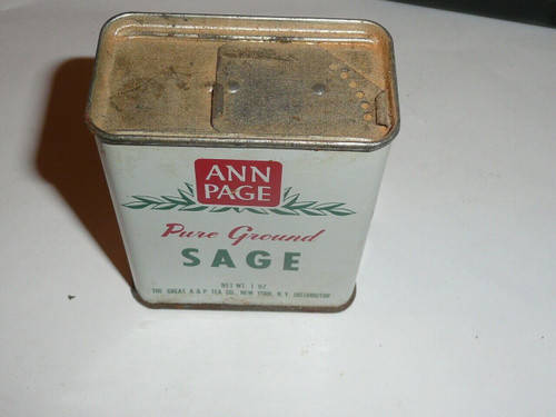 Vintage Spice Ann Page Pure Ground Sage Spice tin