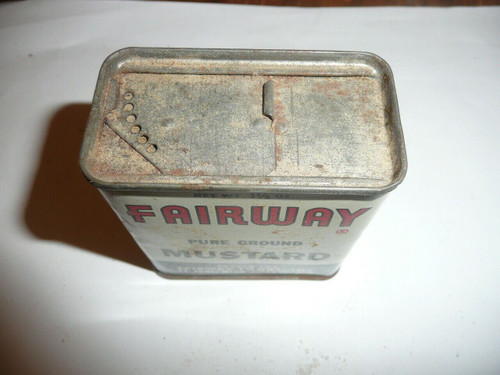 Vintage Spice Fairway Mustard Spice tin