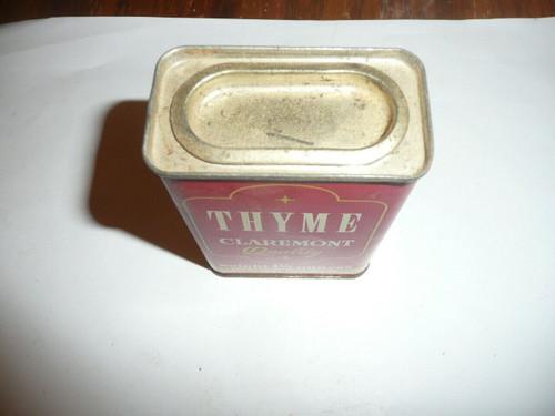 Vintage Spice Claremont Brand Thyme Spice tin