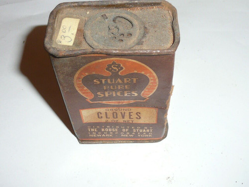Vintage Spice Stuart Pur Spices Ground Cloves Spice tin (cardboard)