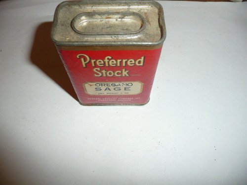Vintage Spice Preferred Stock Oregano Sage Spice tin