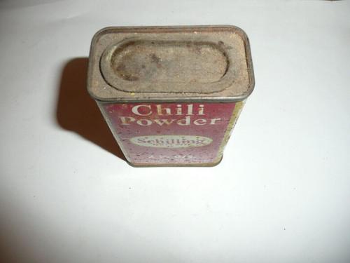 Vintage Spice Schilling Brand Chili Powder Spice tin
