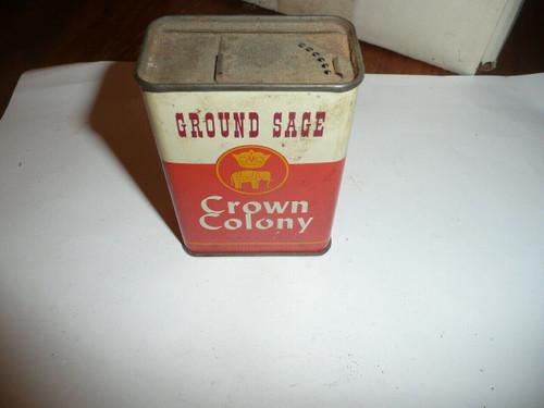 Vintage Spice Crown Colony Ground Sage Spice tin
