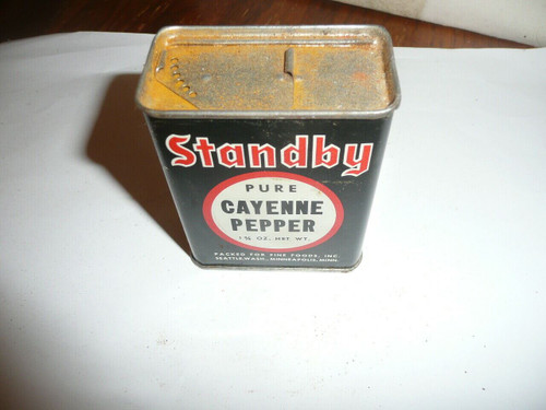 Vintage Standby Cayenne Pepper Spice tin