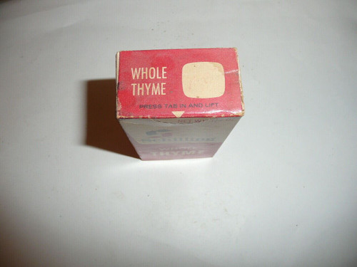 Vintage Spice Schilling Whole Thyme Spice tin
