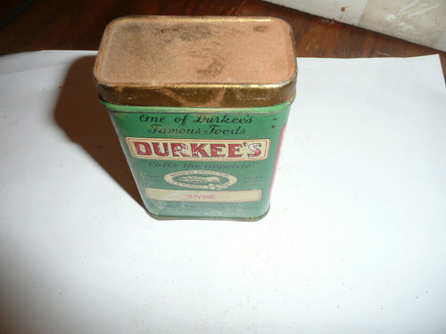 Vintage Spice Durkee's Thyme Spice tin
