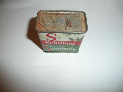 Vintage Spice Schilling Imported Paprika Spice tin