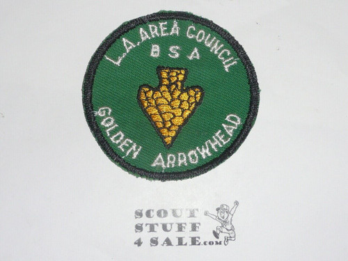 Golden Arrowhead Medal, Los Angeles Area Council, with patch