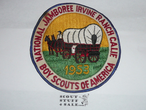 1953 National Jamboree Back / Jacket Patch - MINT but a tiny bit of soiling to twill