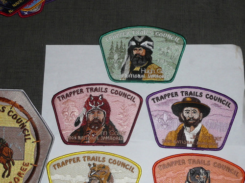 2005 National Jamboree JSP - Trapper Trails Council, Set of 8
