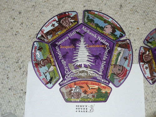 2010 National Jamboree JSP - Greater Niagra Frontier Council larger and smaller 6 piece patch sets