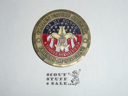 Golden Empire Council Large Bronze Coin / Token, Serving America's Heartland Since 1920