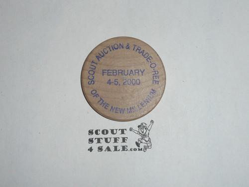 Crossroads of America 2000 Scout Memorabilia Trade-O-Ree Wooden Nickel
