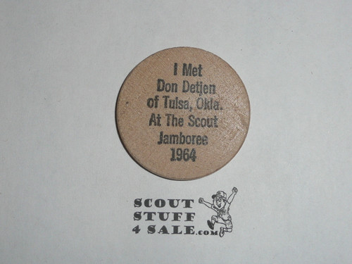 1977 Arrowhead Council Scout Expo Wooden Nickel