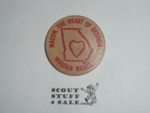 1979 Middle Georgia Coin Club 17th Annual Show Wooden Nickel