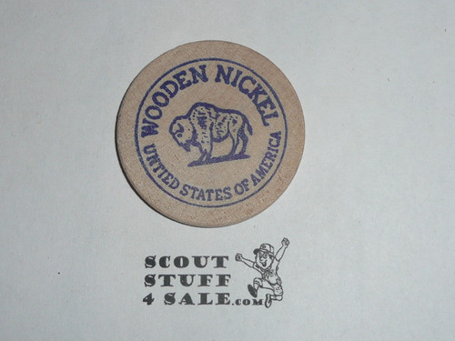1966 Mid-America Council Scout-O-Rama Boy Scout Wooden Nickel