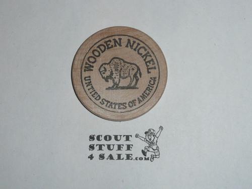 1977 National Jamboree Baytown TX, Jack Edwin Curry, Boy Scout Wooden Nickel