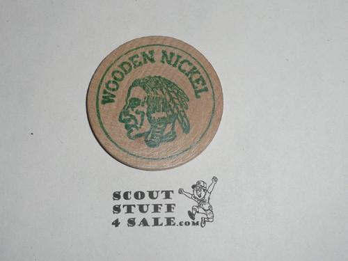 San Fernando Valley Council 1969 Handicapped Jamborette Boy Scout Wooden Nickel
