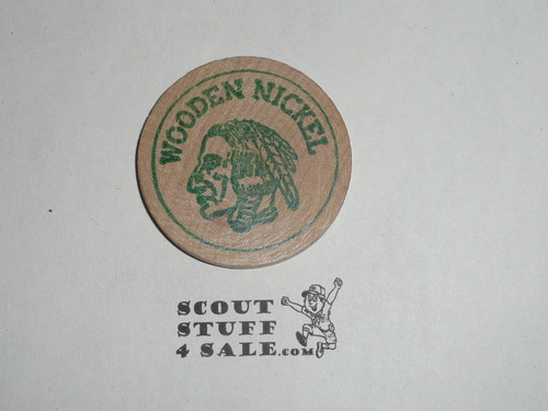 San Fernando Valley Council 1969 Handicapped Jamborette Boy Scout Wooden Nickel