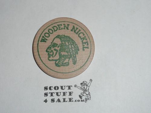 1957 National Jamboree Houston Texas Boy Scout Wooden Nickel