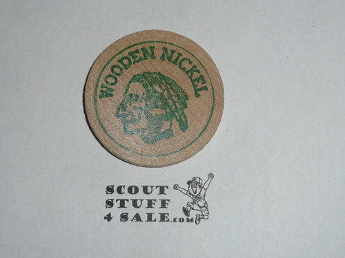 1969 Indiana Council Scout-O-Rama Boy Scout Wooden Nickel