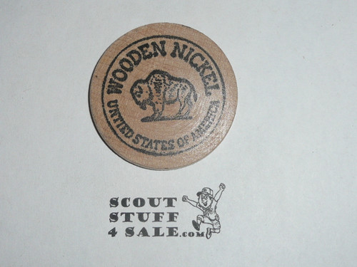 Camp Chickahominy 1980 Boy Scout Wooden Nickel