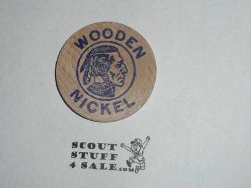 1967 Lake Orion MI Show-o-ree Boy Scout Wooden Nickel