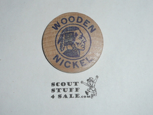 1975 World Jamboree USA Troop Boy Scout Wooden Nickel