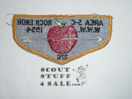 MINT 1954 Order of the Arrow Area 3-C Conference Flap Patch, Shenshawpotoo #276