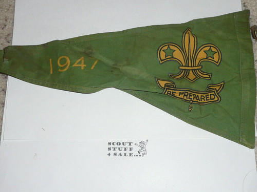 1947 World Jamboree 2-sided Pennant, Boy Scout